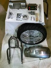 """91-up XL Sportster 5"""" Stretch 3"""" Drop Seat 200 Wide Tire Hardtail Conversion Kit"""