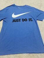 Men's Nike The Nike Tee Blue Just Do It Short Sleeve Graphic Tee Shirt Size L