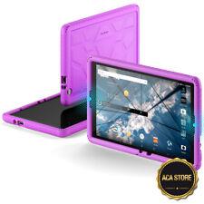 AT&T ZTE Primetime Tablet Case, Flexible Shockproof Silicone Case Cover Purple
