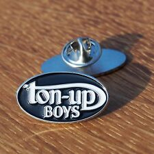 Motorcycle Vintage Biker Jacket Cafe Racer Rockers Enamel Pin Badge TON UP BOYS