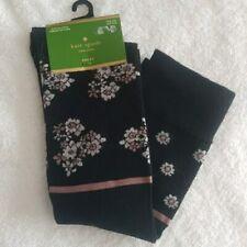 Kate Spade Womens Knee High Socks Black floral one size