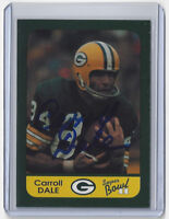 PACKERS Carroll Dale signed SB II card AUTO Autographed Super Bowl II Green Bay