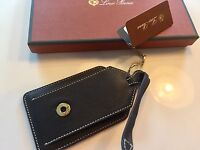 175$ Loro Piana Brown Leather Name Tag Made in Italy