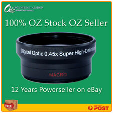 ODS 0.45x HD Wide Angle Lens for 37mm Digital Camera or Video Camcorder