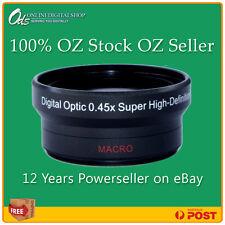 c3d52dcaa ODS 0.45xHD Wide Angle Lens- 37mm Digital SLR   Camcorder+FREE Lens Cleaner