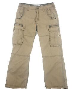 Wearfirst Mens Khaki Cargo Pants Sz 36W