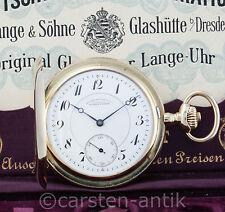 Neuwertige A. Lange & Söhne Glashütte 1921 Gold Savonette 14k Original Box