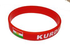 Kurdistan Armband - mit kurdischer Flagge - Fitness Silikon Armband