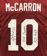 AJ A.J. McCarron SIGNED Alabama Football Jersey PHOTO PROOF 2011 Champs BCS MVP