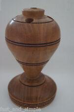 Traditional Mesquite Wood Spinning Top Pencil Holder. Portalápiz de madera