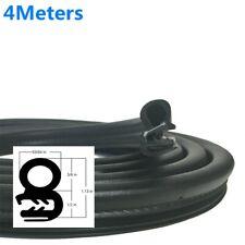 Blk Rubber Car Door Seal Weatherstrip Body Mounted Front 4Meters EPDM Steel Belt