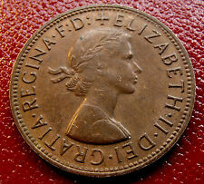 AU Brown Toned 1964 Australia Penny, Excellent Medium Brown Mint toning!