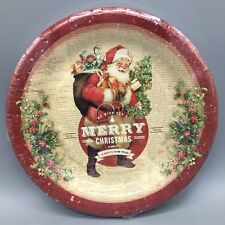 16 Count Punch Studio Christmas Paper Dinner Plates Santa New Year Holiday 10.5  & Paper Christmas u0026 Winter Table Plates Pieces | eBay