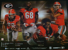Georgia Bulldogs Football 2013 Team Schedule poster Aaron Murray & Arthur Lynch