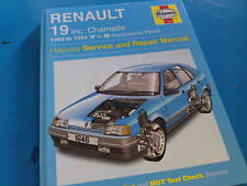 RENAULT 19 Includes CHAMADE 1989-94' J.H. Haynes Manual