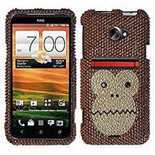 For HTC EVO 4G LTE Crystal Diamond BLING Hard Case Phone Cover Monkey