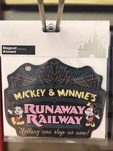 Disney Parks Hollywood Studios Mickey & Minnie's Runaway Railway Magnet NWT