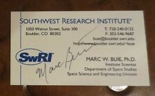 Marc Buie astronomer signed autographed business card discovered 877 planets