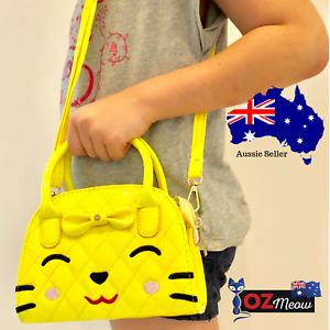 Ozmeow Trendy Little Girls Cute Cat Handbag   Perfect Gift For Girls   Yellow
