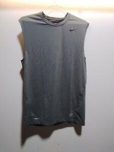 Nike Pro Fit Dry Tank Shirt Sleeveless Tight Grey Training Size 3XL 269020213XL