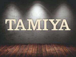 TAMIYA RC Car logo 6 ft wide wall wooden logo gift