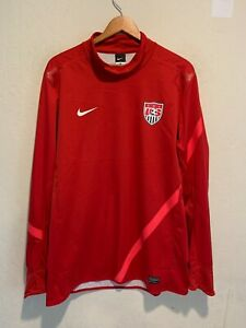 Nike Dri Fit Team USA Soccer Goalkeeper Long Sleeve Jersey Size XL Men's Red