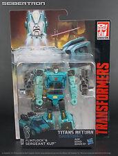 SERGEANT KUP + FLINTLOCK Transformers Titans Return Generations Deluxe 2017 New