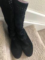 UGG Australia Black Leather Ankle Boots
