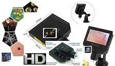 "Microscopio Digitale USB HD 600x 4.3"" HD portatile software 2017"
