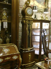 ORIGINAL FRENCH GILDED BRONZE MARQUETRY GRANDFATHER CLOCK, CIRCA 1880, AMAZING