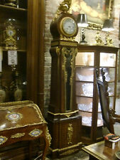 Original French Gilded Bronze Marquetry Grandfather Clock, Circa 1880, Amazing