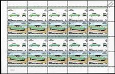 1952 HUDSON HORNET Car 20-Stamp Sheet / Auto 100 Leaders of the World