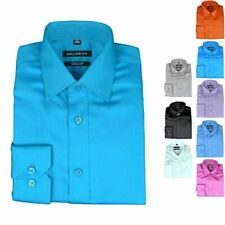 Bellissimo Luxury Men's Shirts Slim Fit Wrinkle Free Cotton Rich