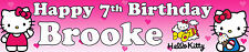 HELLO KITTY PERSONALISED BIRTHDAY BANNERS PACK OF TWO