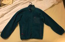 Patagonia Mens Turquoise Green Zip Fleece Sweater - Size Medium