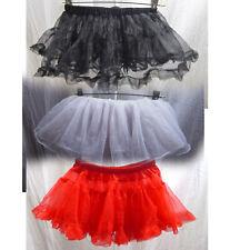 Lot of 3 Girls Petticoats Tutu Dance Skirts Red Black White Costume Kids C385