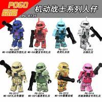 Spielzeug Figur Anime Transformator GUNDAM MS-06F Roboter Krieg Figur 8PCS