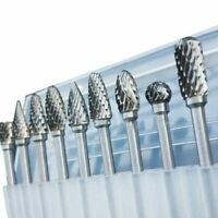 Tungsten Carbide Twist Drill Bit 10 Pcs Milling Cutter Rotary Tool For Metal Use