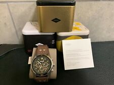 Fossil Men's Coachman Chronograph Brown Leather Cuff Watch CH2891 NEW WITH TAGS!