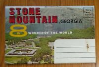 "GEORGIA - ""Stone Mountain"" Postcard Folder 12 Views EB"