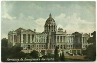Postcard Harrisburg PA New Capitol Building Entrance View 1900's Pennsylvania