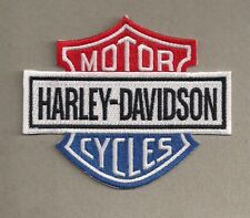 Harley Davidson red white blue shield patch. 4.25 inch. New