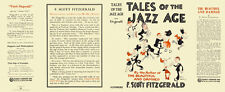 Fitzgerald TALES OF THE JAZZ AGE facsimile  jacket for 1st ed/early (NO BOOK)