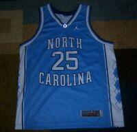 NIKE ELITE Authentic NORTH CAROLINA TAR HEELS Blue JUMPMAN Basketball JERSEY L