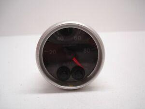 NASCAR AUTOMETER ELITE ELECTRIC 2-1/16 PRESSURE GAUGE 0-100 WATER BOOST FUEL 596