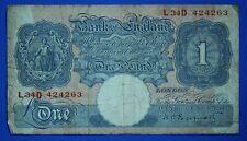 More details for 1940 bank of england one pound £1, peppiatt prefix