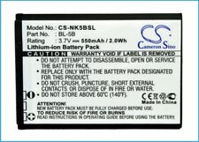 Replacement Battery For Nokia BL-5B 3.7v 550mAh / 2.04Wh Mobile,Phone Battery