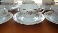coffee cups and saucer set Regency Rose by Creative China 8 sets 16 pieces EUC