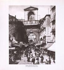 STAMPA FOTO ALINARI, PORTA CAPUANA, Napoli, 1896 ca.