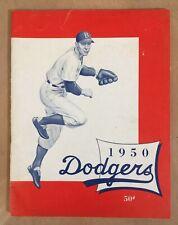 VINTAGE1950 MLB BROOKLYN DODGERS OFFICIAL BASEBALL YEARBOOK - JACKIE ROBINSON